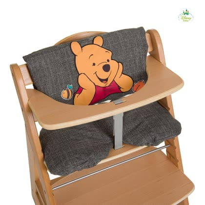 高腳餐椅坐墊Deluxe 小熊維尼 -  * The ultra-comfy High Chair Seat Pad Deluxe features Disney's Winnie the Pooh. Used either as a comfy padding or seat insert this seat pad is suitable for the Hauck Wooden High Chair Alpha + or similar high chair types.