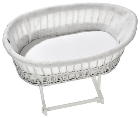 "Alvi  移動嬰兒床Birthe 保護織物 -  * With this innovative knitted fabric protection cover for your bassinet ""Birthe"" your little one will sleep like on a cloud."