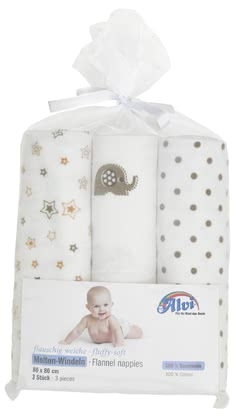 Alvi Molton 尿布巾- 3 入裝 -  * The Alvi Molton Nappies are fluffy and soft companions contributing to your child's wellbeing.