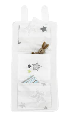 "Alvi 銀色星星置物袋 -  * Do you need some extra space to store your little one's essentials in the nursery or in the bathroom? The practical Alvi Organiser ""Silver Star"" is the right accessory for you!"