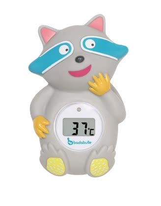 "Badabulle 浣熊造型沐浴溫度計 -  * Badabulle's bath thermometer ""Racoon"" is a funny little fellow for your child that reads and shows the right water temperature in an accurate and safe way."
