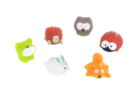 "Badabulle寶寶沐浴玩具 動物造型6個裝 -  * Splashing water and playing happily in the bathtub is one of small children's most favourite things. Badabulle's bathing animals ""Forest"" will turn every bathing session into the utmost fun for your child."