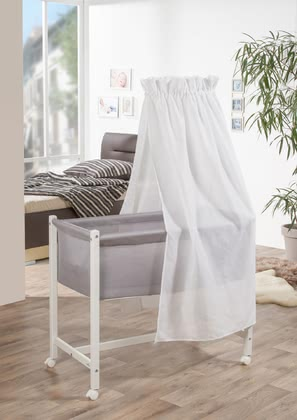 "Geuther Geuther Jasmine白色 - 面紗白色 -  * Geuther's bassinet ""Jasmin"" comes with a new, extraordinary design that will instantly delight you and your little one."