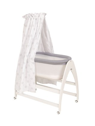 "Geuther嬰兒搖籃床Lyn -  * Greuther's beautiful rocking cradle ""Lyn"" makes your little one feel like sleeping in seventh heaven."