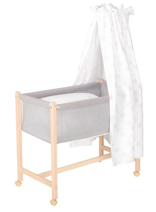 "Geuther 室內用嬰兒睡籃車Jasmin自然色 -  * Geuther's bassinet ""Jasmin"" comes with a new extraordinary design that will instantly delight you and your little one."