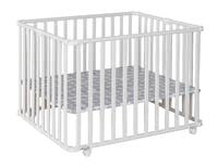 Geuther 可移動圍欄床Ameli白色款 -  * A great companion that helps your ease everyday life is the new playpen by Ameli von Geuther. Along with the floor it can be collapsed into a small size in no time at all.