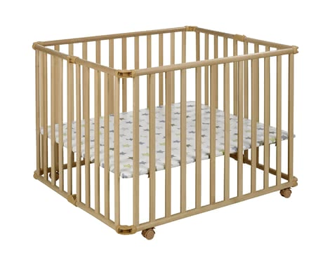 Geuther 圍欄 Ameli, 自然色 -  * A great companion that helps your ease everyday life is the new playpen by Ameli von Geuther. Along with the floor it can be collapsed into a small size in no time at all.