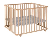 Geuther 可移動圍欄床Ameli原木色 -  * A great companion that helps your ease everyday life is the new playpen by Ameli von Geuther. Along with the floor it can be collapsed into a small size in no time at all.