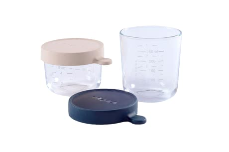 Béaba 玻璃保鮮盒2入裝 -  * Storing, freezing, warming up and sterilising your little one's food in only one container.