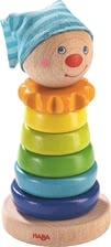 "Haba堆疊益智玩具 -  * Haba's stacking rings ""Clown"" bring ultimate fun into your child's nursery."