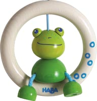 "Haba抓握玩具小青蛙 -  * The clutching toy ""Little Frog"" by Haba is a funny friend that will delight your child instantly."