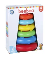 Beeboo 堆疊塔 -  * The colourful sorting and stacking tower by Beeboo is suitable for children at the age of six months and up and will bring age-appropriate stacking fun into your little one's nursery.