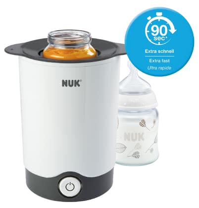 NUK Express快速奶瓶加熱器 -  * Simple and fast, the NUK Thermo Express Bottle Warmer warms up the food of your baby gently. Not too hot, not too cold – in just 90 seconds the milk will be gently warmed to the right temperature and all the important nutrients and vitamins are retained.