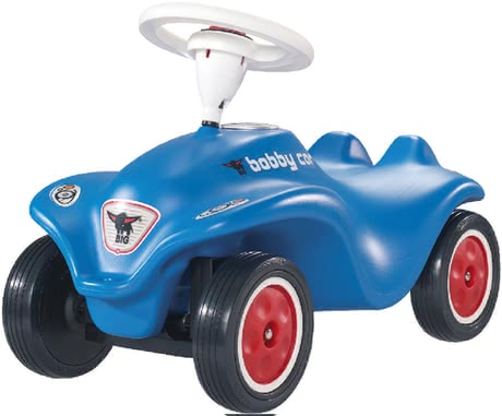 BIG Bobby Car 玩具汽車帶靜音輪胎, 藍色款 -  * The blue nippy little car in a contemporary design supplies your child with ultimate joy for many years. As standard, this BIG New Bobby Car has been design with premium whisper wheels. Together with the low mass centre they provide perfect road holding as well as a low driving noise.