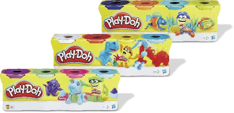 Play-Doh 黏土4入裝 -  * The popular modelling compound in a practical 4-part set – available in basic colours or in assorted colours.