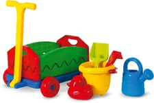 Outdoor Active 拉車玩具組 -  * Digging, burrowing and experimenting in the garden for hours are particularly popular activities for children. The colourful set by Outdoor Active that features a pull along cart and various sand toys will delight your little gardener instantly and leaves nothing to be desired.