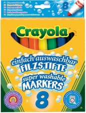 Crayola可水洗記號筆 -  * No matter if your child is painting, drawing or writing – with Crayola's markers your little artist can let his imagination run free. Eight vivid colours leave nothing to be desired.