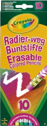 Crayola彩色可擦蠟筆 -  * Very often, kids are disappointed when they make a mistake while drawing or writing. With Crayola's erasable coloured pencils this situation belongs to the past.