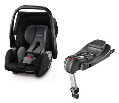 Recaro 嬰兒提籃Privia Evo 含底座SmartClick Basis Carbon Black 2019 - 大圖像