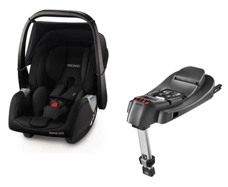 Recaro 嬰兒提籃Privia Evo 含底座SmartClick Basis Performance Black 2019 - 大圖像