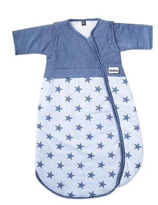 Gesslein Bubou睡袋,大星星款 -  * This super soft sleeping bag is decorated with many little stars and comes in several shades of blue. This sleeping bag guarantees sweet dreams and relaxing nights.