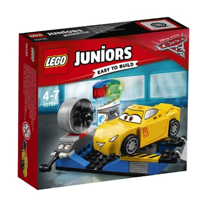 LEGO Juniors  克魯茲拉米雷斯的競速模擬器 -  * The race simulator will help Cruz Ramirez become unbeatable. The ramp folds out so that Cruz can get into the race simulator.
