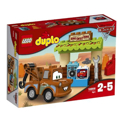 LEGO Duplo 拖線的工具棚 -  * Mater the cheerful tow truck from Disney Pixar Cars 3 will bring ultimate fun into your little one's nursery.