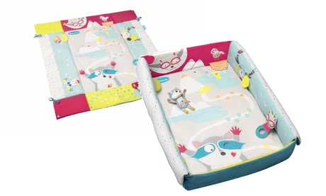 Badabulle 2合1遊戲爬行墊 -  * Badabulle's amazing 2 in 1 crawling blanket can be used as a cosy mat inside and outside your little one's playpen or else as a snug cot bumper for your child's cot. /ul>
