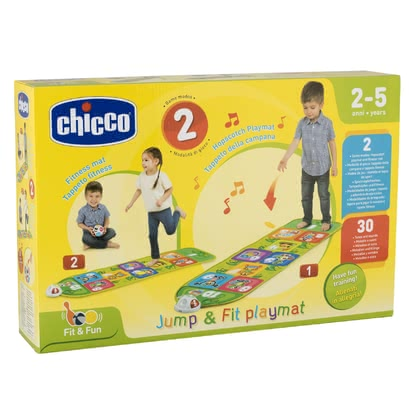 Chicco 電子跳跳毯 -  * This electronic Jump & Fit Playmat by Chicco inspires both small and older children alike. Children love being active and this fab toy that is based on the popular game hopscotch will make them jump with joy immediately.