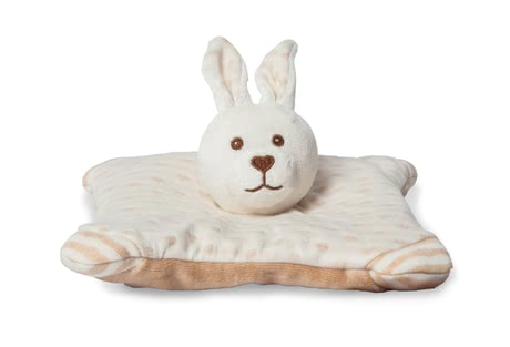 Grünspecht兔子亞麻枕 (有機材質) -  * A soft and cosy companion – this cute little cuddly rabbit is made of 100% GOTS-certified cotton and filled with organic flaxseed.