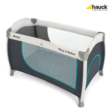 Hauck Travel Cot Play and Relax -  * Its new shape and the trendy frame in a bicolour look turn Hauck's travel cot Play and Relax to an absolute eye-catcher.