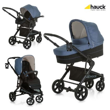 Hauck Atlantic Plus 推車三件套 -  * Being extremely light in weight and super flexible, Hauck's Atlantic Pus Trio Set will delight you and your child from the very first day on. This multi-functional all-round set features premium materials and an elegant look.