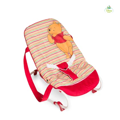 Disney迪士尼嬰兒搖椅躺椅,維尼熊 -  * The baby bouncer Rocky by Disney comes with a soft pad and supplies your child with optimum lying comfort.