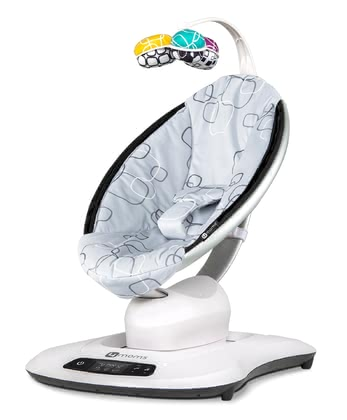 4moms 3D Baby Bouncer mamaRoo 4.0 Silver Plush 2020 - 大圖像