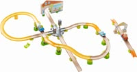 "Haba游戲軌道 城市中心 -  * Haba's Kullerbü play track ""City Stroll"" brings versatile playing fun into your child's nursery. Three cars as well as colourful balls race down the tracks."