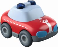 Haba消防玩具車 -  * This cute little fire truck runs down any ball track with high speed. Due to the momentum motor a gentle push is enough to make the fire truck race to the next deployment site.