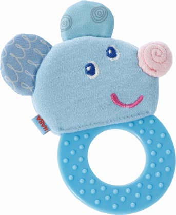 Haba磨牙玩具 -  * Haba's beautifully designed chomp champ is going to be your little one's first best friend. The flat ring as well as the soft animal face are super easy to be grasped and held by small hands.