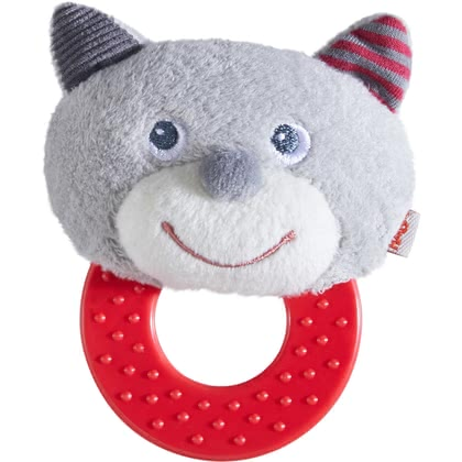 HABA 抓握磨牙玩具 -  * Haba's beautifully designed chomp champ is going to be your little one's first best friend. The flat ring as well as the soft animal face are super easy to be grasped and held by small hands.