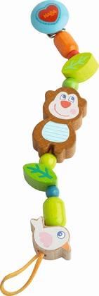 Haba奶嘴掛鏈 猴子Lino -  * The soother chain Lino Lemur by Haba comes with a practical clip whit which you can keep your little one's soother easy to reach at all times.