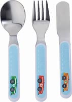 Haba Zippy Cars Cutlery -  * Colourful racing cars decorate this adorable cutlery of Haba's amazing Zippy Cars range. Being equipped with this cute cutlery set will delight every little racer and encourage him to eat by himself.