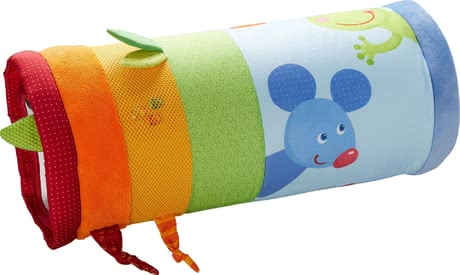 Haba爬行滾毯Mina -  * Haba's crawling roller features caterpillar Mina and comes with bright colours and many child-appropriate motifs that will immediately catch your little one's attention.
