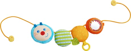 Haba兒童推車掛件Mina -  * Haba's Caterpillar Mina pram decoration is a versatile and multiply-coloured toy that brings diversion and entertainment for at home or on the go.