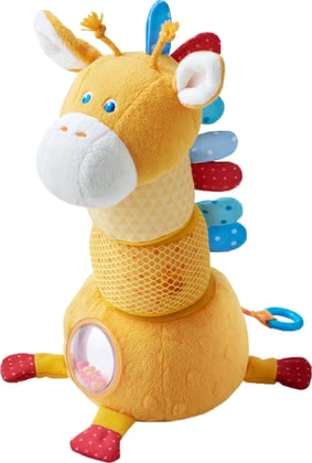 Haba堆疊長頸鹿造型玩具 -  * Haba's cheerful stacking figure Spotty the giraffe features many exciting effects. Each piece hides a great surprise and can be stacked on top of another so that Spotty looks different every time your child plays with it.