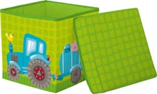Haba方塊座椅拖拉機造型 -  * Haba's cube seat which comes in an adorable tractor design is a practical seat that supplies your child with space to store toys and the like.