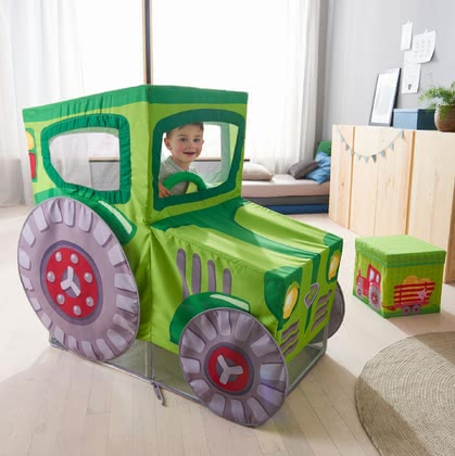 "Haba游戲帳篷拖拉機造型 -  * Haba's play tent ""Tractor"" will instantly turn your little one into the most passionate tractor driver. This adorable tent will be the centre of attention in your child's nursery and delights everyone with its fascinating playing effect."