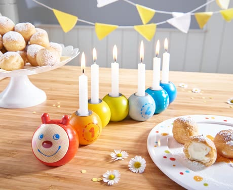 Haba生日蠟燭裝飾 毛毛蟲造型Mina -  * The multi-coloured birthday caterpillar Mina grows with every birthday of your child by one more candle. Mina comes in the most adorable design and will add a unique and amazing birthday ritual to every year.
