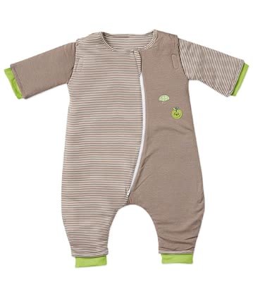 Bubou嬰兒睡覺連體衣,卡其色-蘋果圖案 -  * Bubou's sleepsuit Walker is perfect for little active children. Its tried and tested Bubou material accompanies them safely through the night.