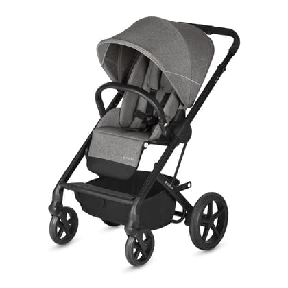 Cybex Stroller Balios S -  * The Cybex Balios S is a stylish and reliable stroller that accompanies you and your child right from birth and up. Its all-terrain wheels that feature a soft all-wheel suspension make the Balios S simply perfect for driving on any terrain. If necessary, you can also lock the swivel front wheels.
