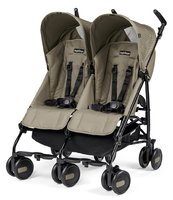 Peg-Perego Double Buggy Pliko Mini Twin -  * The Peg-Perego Pliko Mini Twin is a flexible lightweight buggy which is perfect for active parents of twins or siblings.