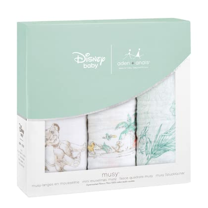 aden+anais Disney Musy Muslin Burp Cloths, 3-pack -  * A colourful treat for the eyes! The musy burp cloths by the American manufacturer aden+anais are now available in various trendy Disney designs.